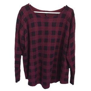 Lane Bryant Plaid Sweater Pullover 22/24 Plus size